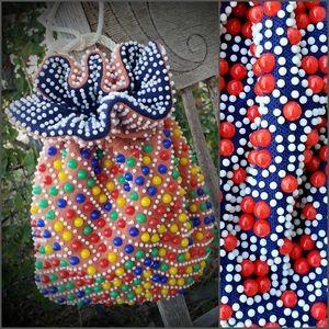 VINTAGE Hippie Bag 70 Drawstring Reversible